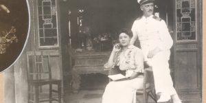 Ivan Skušek and his future wife in Beijing